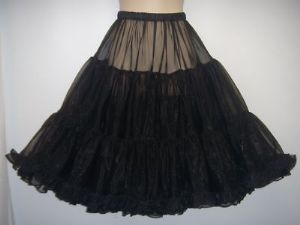 Frilly,full, swishy1950's style  Black Prom Petticoat